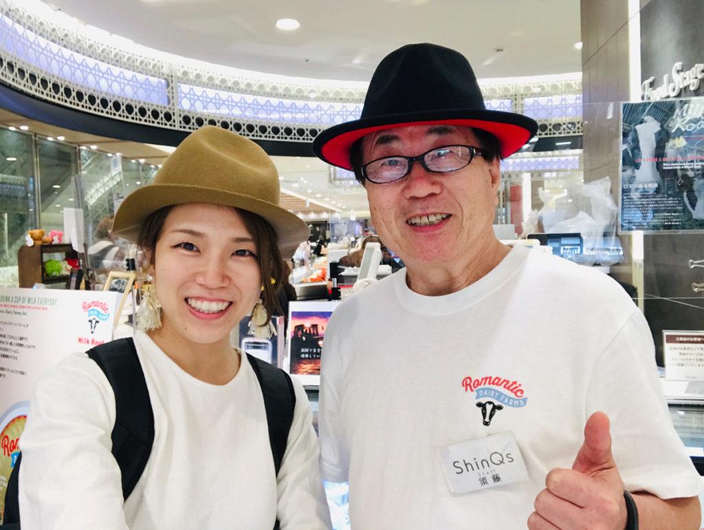 (左)カップヨーグルト研究会 向井智香 (右)ミルクロード 須藤さん